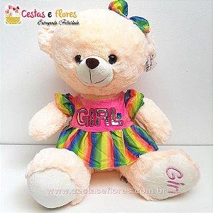Urso de Pelúcia GIRL - 45cm Altura