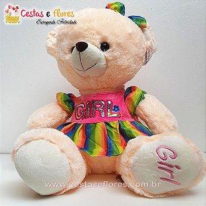 Urso de Pelúcia GIRL - 30cm Altura
