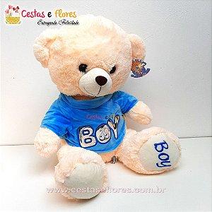 Urso de Pelúcia BOY - 30cm Altura