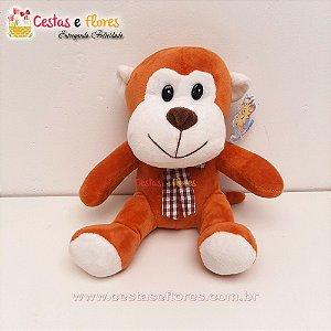 Urso de Pelúcia Macaco - 25cm Altura