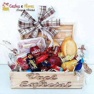 Cesta Single Baú Você é Especial Café da Manhã com Chocolates