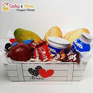 Cesta Single Café da Manhã com Chocolates