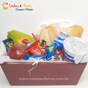 Cesta Single Café da Manhã com Chocolates