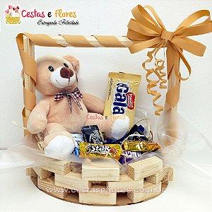 Cesta de Chocolates + Urso