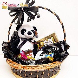 Cesta de Chocolates + Urso Panda