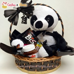 - Cesta de Chocolates + Urso Panda
