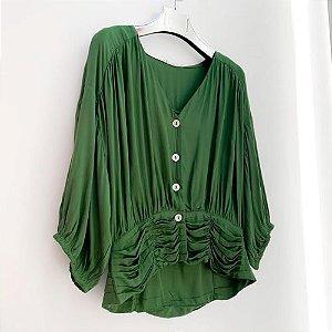 Blusa em viscose Verde