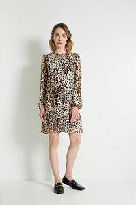 Vestido Animal Print Curto Debora
