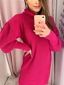 Blusa Alongada Tricot Pink