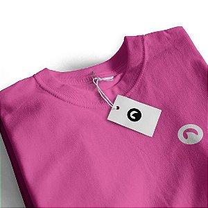 Camiseta Básica Algodão Premium CORTUBA Baby Look - Rosa