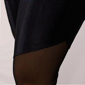 Calça Legging Jasmim - Preta com Transparência