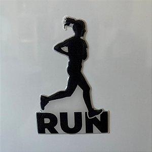 Adesivo Resinado 3D - Atleta Run - Feminino