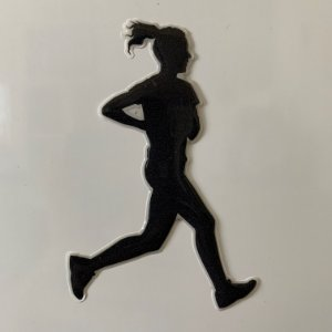 Adesivo Resinado 3D - Atleta - Feminino