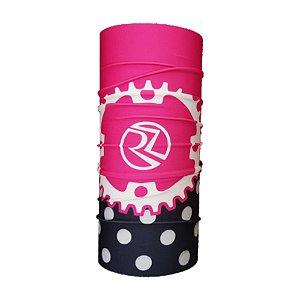 Bandana Tubular EcoHead RZ - Coroa Bike Rosa com Preto
