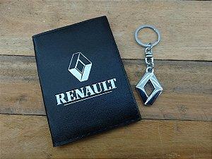 Kit Renault - Chaveiro + Porta Documentos - DIA DOS PAIS