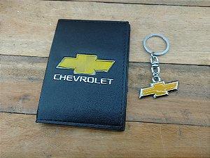 Kit GM Chevrolet - Chaveiro + Porta Documentos - DIA DOS PAIS