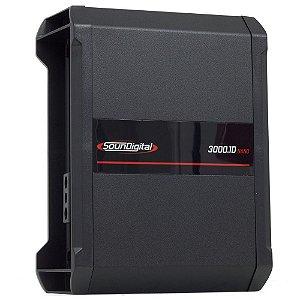 MÓDULO AMPLIFICADOR SOUNDIGITAL SD3000.1D 1 ou 2 OHMS NANO