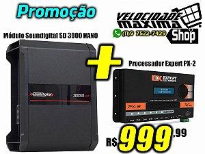 A Promoção Imperdível - Modulo Soundigital 3000 Nano + Processador PX2 Expert