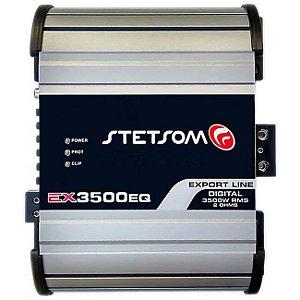 Módulo Amplificador Stetsom Ex3500 Eq 2 Ohms 3500w Rms 1 Canal