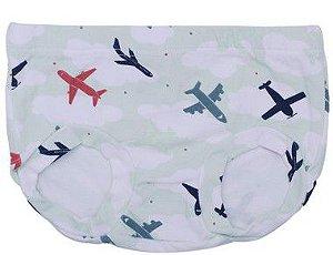 Tapa Fralda Estampado - Avião Verde