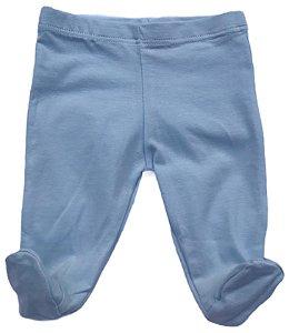 Calça Lisa Com Pé - Azul Bebê RN