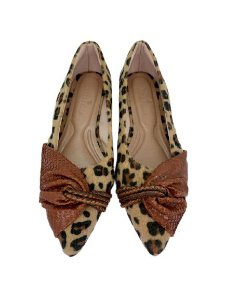 POINTED HALF LACE - LEOPARD