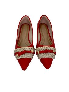 POINTED CHORD & LACE - RED