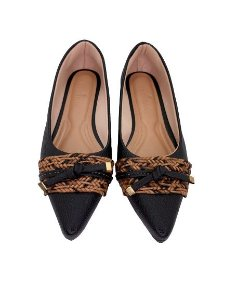 POINTED CHORD & LACE - BLACK