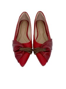 POINTED HALF LACE - RED