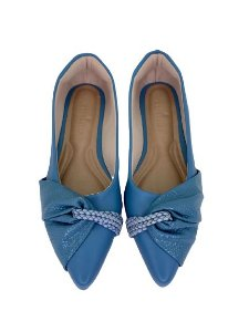 POINTED HALF LACE - BLUE SKY
