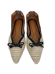 Sapatilhas Pointed Vintage Linho