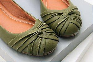 Ballerina Laço Invertido - Verde Militar