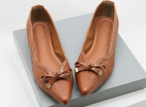Pointed Vintage - Croco Caramelo