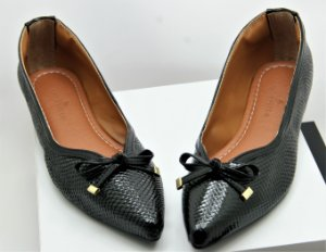 POINTED VINTAGE - CROCO BLACK