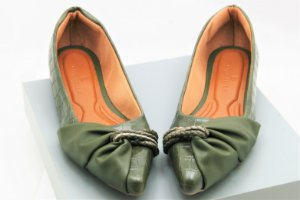 Pointed Half Lace - Croco Verde Militar
