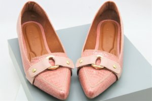 Mocassim Sapatilha Fancy - Croco Rose