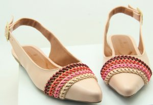 SLINGBACK CHORD - NUDE & PINK