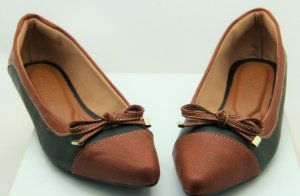 POINTED BICOLOR - CHOCOLATE & BLACK