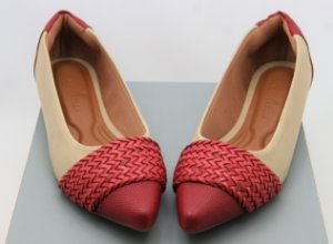 POINTED CHORD - NUDE & RED