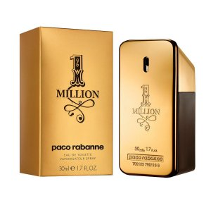 Perfume Masculino One Million Paco Rabanne Eau de Toilette 30ml - Incolor