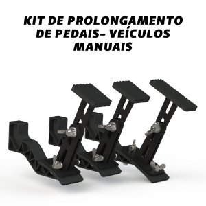 Kit de prolongamento de pedais - Câmbio Manual