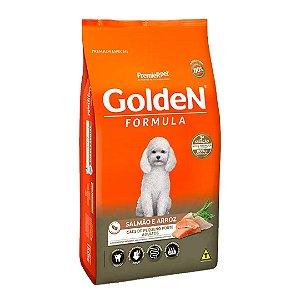 Ração Golden Fórmula Mini Bits para Cães Adultos de Pequeno Porte Sabor Salmão e Arroz 15kg