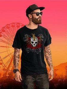 Camiseta Masculina Metal Preta