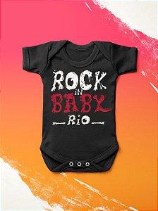 Body Infantil Rock in Baby Preto