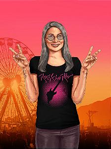 Camiseta Pixel Feminina Preta