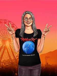 Camiseta Rock in Rio feminina Preta