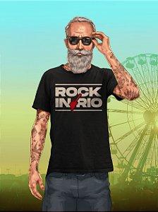 Camiseta Rock Bold Preta