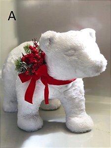 Urso polar pelúcia branca - 40cm altura