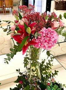 Mix de flores rosa sem vaso