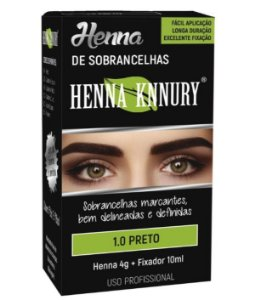 Henna Knnury - Para Sobrancelhas 1.0 Preto